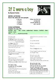 English Worksheets: If I were a boy