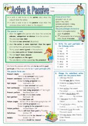English Worksheets: Active and Passive