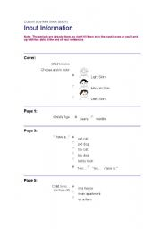 English Worksheets: About Me