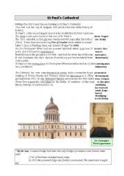 English Worksheets: St Paul�s Cathedral