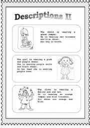 Descriptions (part II)