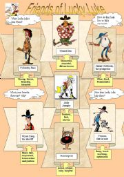 English Worksheet: Friends of Lucky Luke (the cowboy series)