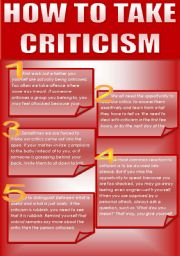English Worksheets: HOW TO TAKE CRITICISM?