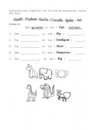 English Worksheets: Complete the sentences