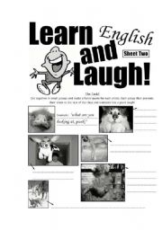 English Worksheets: Learn and Laugh Sheet 02
