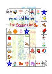 English Worksheet: Four Seasons Board Game