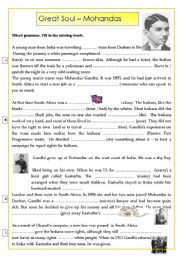 Gandhi worksheets