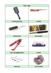 English Worksheets: picture dictionry part 3 (hair care)