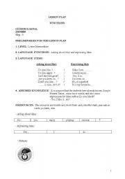 English Worksheets: functions