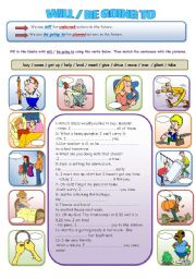 English Worksheet: will vs. be going to
