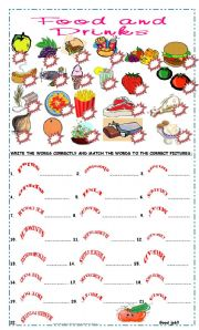 Lets practice vocabulary food and drinks esl worksheet by pacchy english worksheet lets practice vocabulary food and drinks ibookread Download