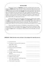 English Worksheets: backpacker