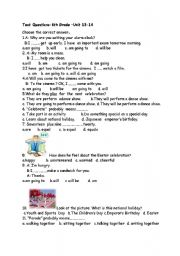 English Worksheet: SBS Test For 6th Grade Spot on Unit(13-14)