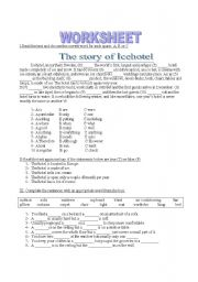 English worksheet: House, accomodation, furniture and another things at home.