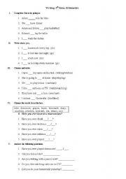 English Worksheets: work-sheet