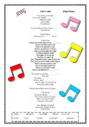 English Worksheet: Hot n� cold