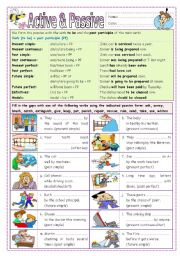 English Worksheets: Active & Passive (part 3)