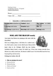English Worksheets: NOEL AND THE BEAR