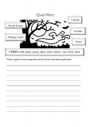 simple essay ghost story