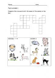 English Worksheets: Farm animals 1