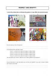 English Worksheet: Respect and graffiti