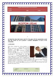 English Worksheet: BOSTON LEGAL (topic: The Environment)