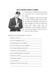 English Worksheets: DADDY YANKEE AND VANESSA HUDGENS