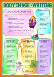English Worksheet: Body Image - Writing