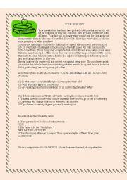 English Worksheets: YOUR NEW LIFE SELECTIVIDAD TEXT 3