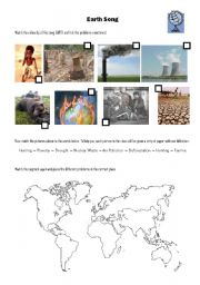 English Worksheets: Earth Song - Michael Jackson