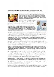English Worksheet: obesity
