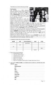 English Worksheets: The Munsters
