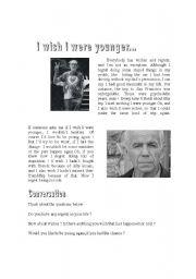 I wish I were younger (reading activity)