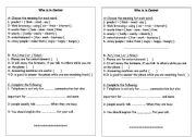 English Worksheets: Who�s  In Control?
