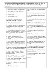 English Worksheets: good and bad interview