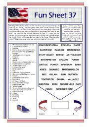 English Worksheets: Fun Sheet 37