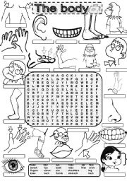 Wordsearch THE BODY