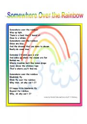 English Worksheets: Somewhere Over the Rainbow