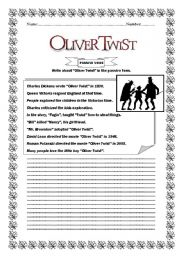 worksheet oliver twist passive voice english worksheet oliver twist passive voice