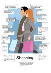 English Worksheet: shopping questions for conversation