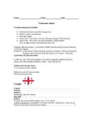 English Worksheets: Caucas states