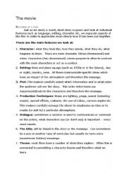 English Worksheets: how to make a movie