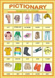 English Worksheet: PICTIONARY  - WOMEN� S CLOTHES