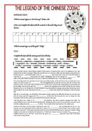of the Chinese Zodiac - The Great Race: Worksheets