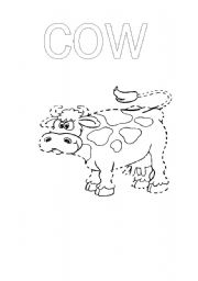 English Worksheets: Complete the cow