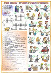 Grammar worksheets > Verbs > Verb tenses > Past simple crossword