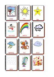English Worksheet: Flashcards weather