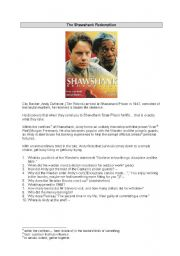 English Worksheets: Movie: The Shawshank Redemption - 2 pages with key