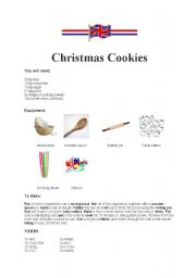 English worksheet: Christmas Cookies