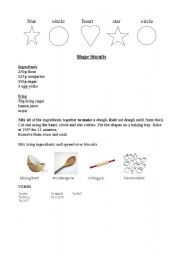 English Worksheets: Shape biscuits